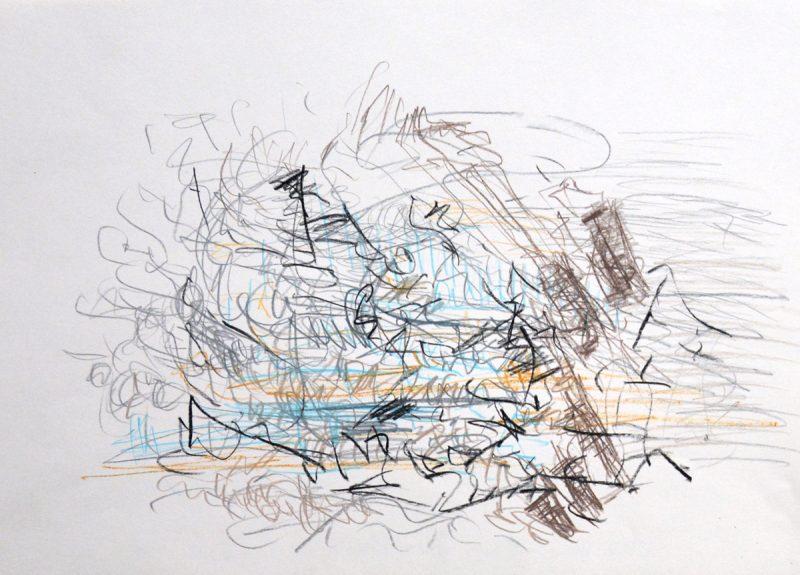 Ohne Titel, Zeichnung von Ilka Vogler, 2014